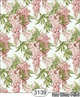 Floral Wisteria Pink Wallpaper