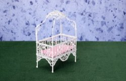 Baby Canopy Bed, White