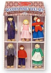Family Wooden Doll Set