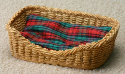 Rectangular Wicker Pet Basket