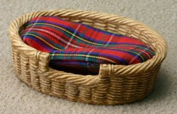 Large Oval Wicker Pet Basket