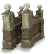 Stone Walls, 1 pair, Aged