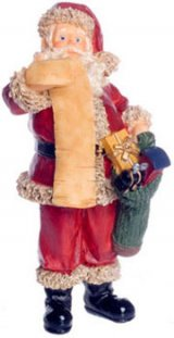 Santa Claus Reading His List, Standing