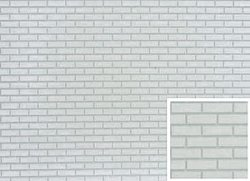 Brick Panel - White Bricks with White Mortar