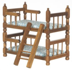Bunkbed with Ladder, Walnut