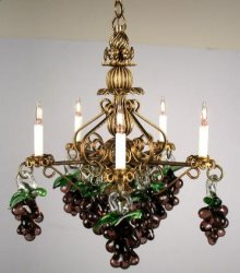 Italian Grape Chandelier