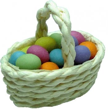 Woven Basket w/Easter Eggs