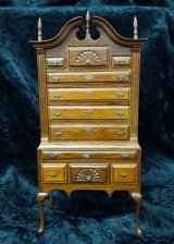Chippendale Bonnet Highboy
