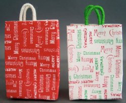 Merry Christmas Shopping Bag, White