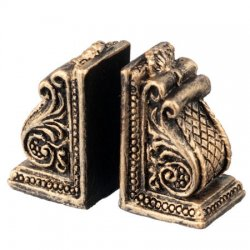 Scroll Bookends, pair