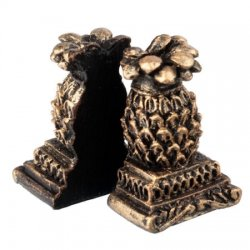 Pineapple Bookends, pair