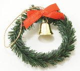Wreath, Bell & Red Bow