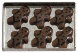 Gingerbread Men Cookies on Sheet
