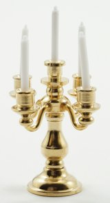 5 Arm Candelabra, Brass