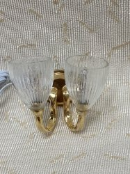 2 Arm Sconce with Glass Shades