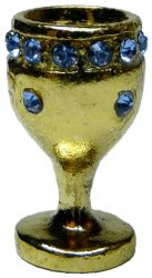 Gold Chalice w/ Sapphire Band