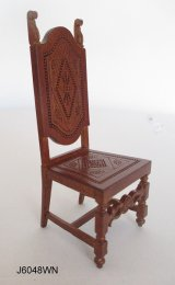 Spanish Highback Chair, Walnut