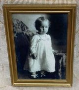Victorian Baby Print in Gold Frame