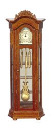 Working Grandfather Clock w/Glass Shelves