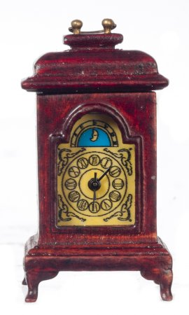Carriage Clock, Battery Operated, Mahogany