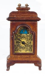 Carriage Clock, Battery Operated, Walnut