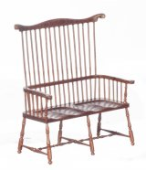 Comb Back Windsor Settee, Walnut