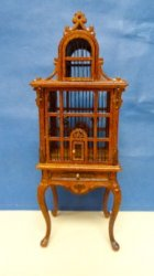 Bird Cage with Queen Anne Legs in New Walnut