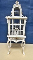 Bird Cage White Handpainted with Table