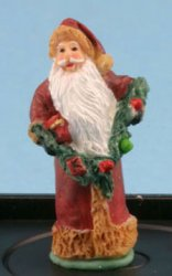 Father Christmas w/ Garland Figurine