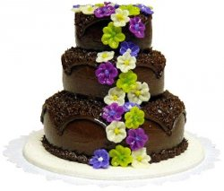 3-Tier Chocolate Flower Cake