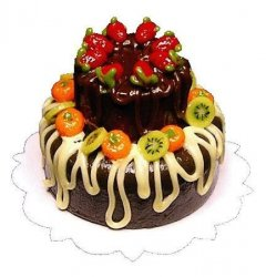 2-Tier Fruit Topped Cake
