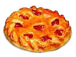 Cherry Pie, Crust with Heart Cut-outs