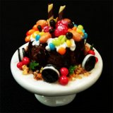 Cake w/ Fruit & Candy on Stand