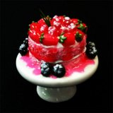 Cake w/ Starwberries/Blueberries on Stand