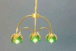 Three Light Hanging Pool Table Light