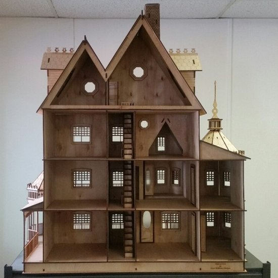 1 Ashley Victorian Dollhouse Kit Ld0013 593 99 Miniature