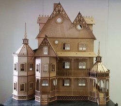 "1"" Ashley Victorian Dollhouse Kit"