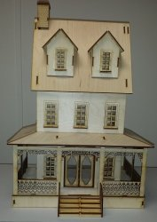 "1/2"" Abriana Country Cottage Dollhouse"