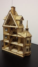 "1/4"" Ashley Gothic Victorian Dollhouse"