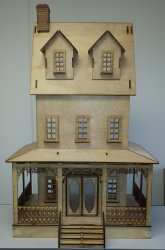 "1"" Abriana Large Country Cottage Dollhouse"