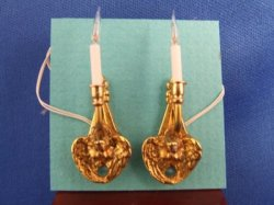 Angel Sconces, Solid Brass