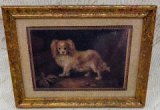 Print of a Spaniel with Gold Frame
