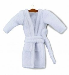 Bathrobe on Hanger