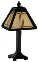 Craftsman Tiffany Lamp, Dark Bronze