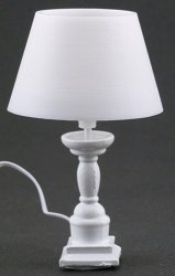 White Farmhouse Table Lamp