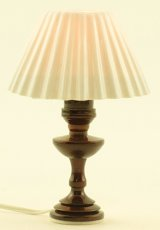 Table Lamp with White Pleated Shade