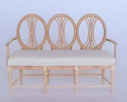 Laurette Gustavian Couch, Unfinished