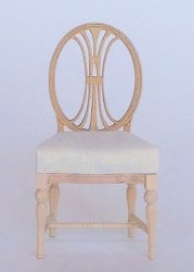 Dianna Gustavian Chair, Unfinished