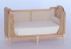 Fauna Cane Daybed, Unfinished