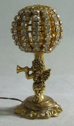 Cupid Lamp w/ Round Rhinestone Ball